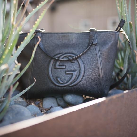 Gucci Handbags - 🍃Host Pick🍃Gucci Soho Leather Top Handle Bag Blk
